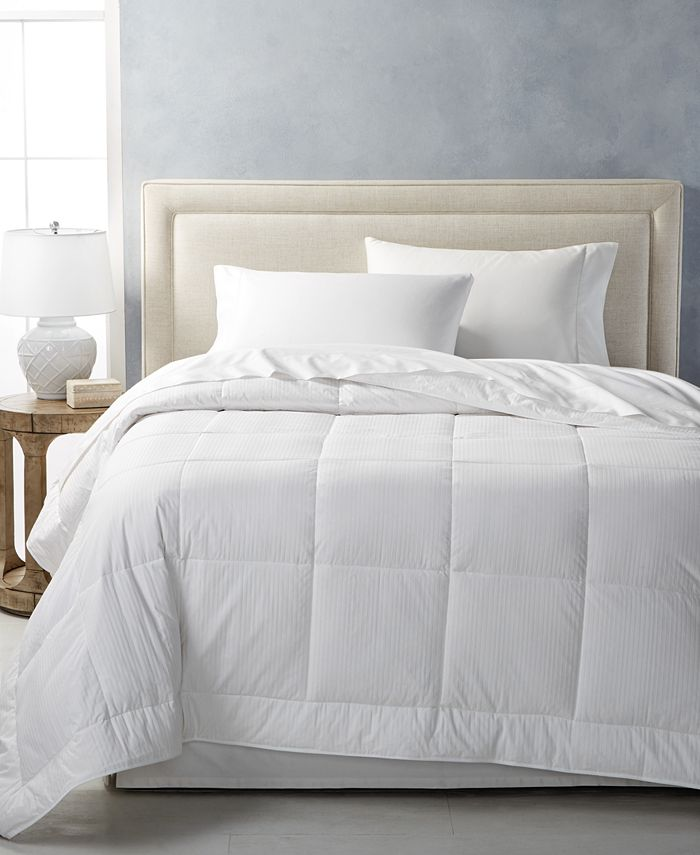 Hotel Collection - Medium Weight White Full/Queen Comforter