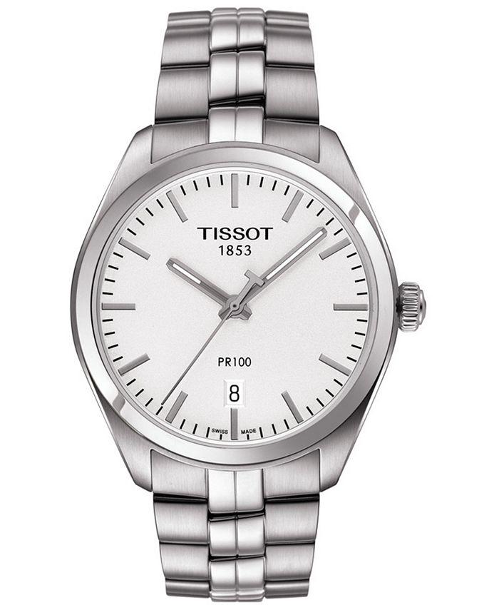 Tissot - Men's Swiss T-Classic PR 100 Stainless Steel Bracelet Watch 39mm