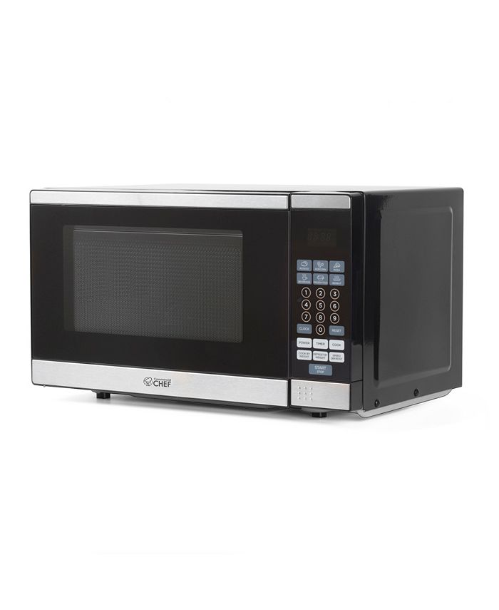 Commercial Chef - .7 Cu. Ft. Microwave, Stainless Steel