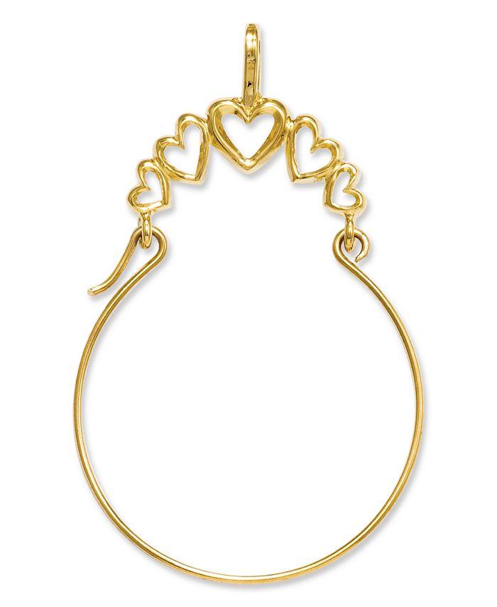 Macy's - 14k Gold Charm Holder, Polished 5-Heart Charm Holder