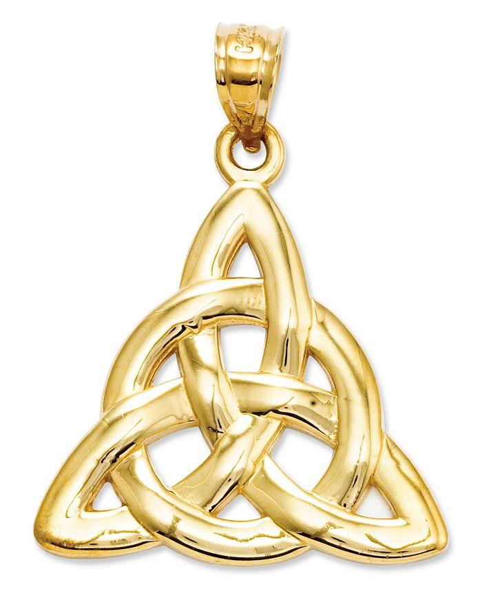 Macy's - 14k Gold Charm, Polished Trinity Charm