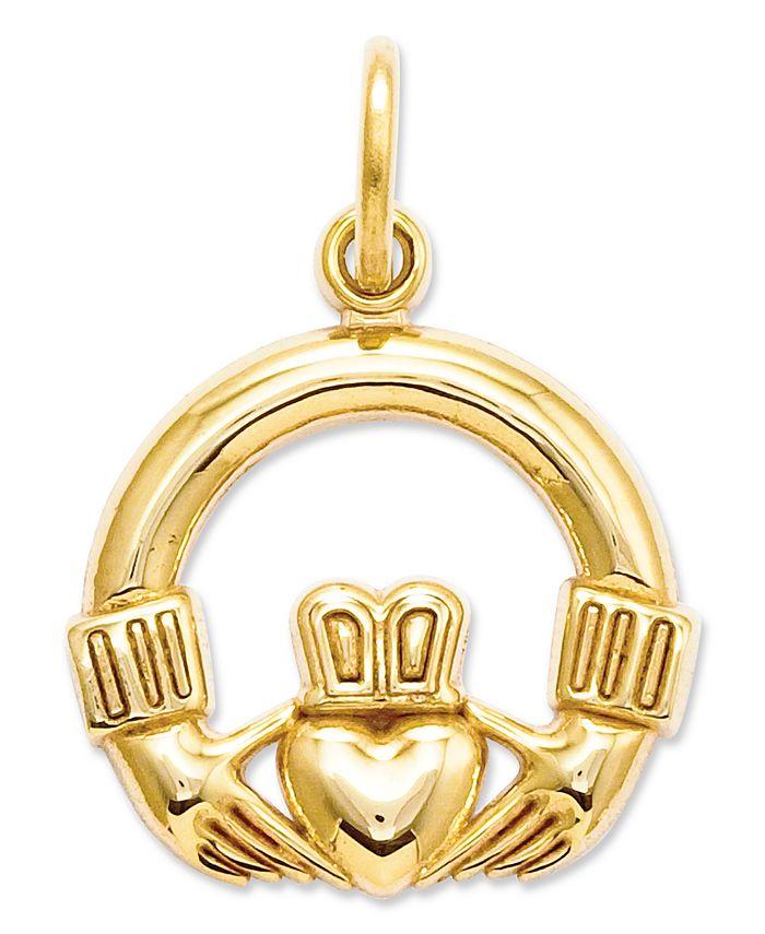 Macy's - 14k Gold Charm, Claddagh Charm