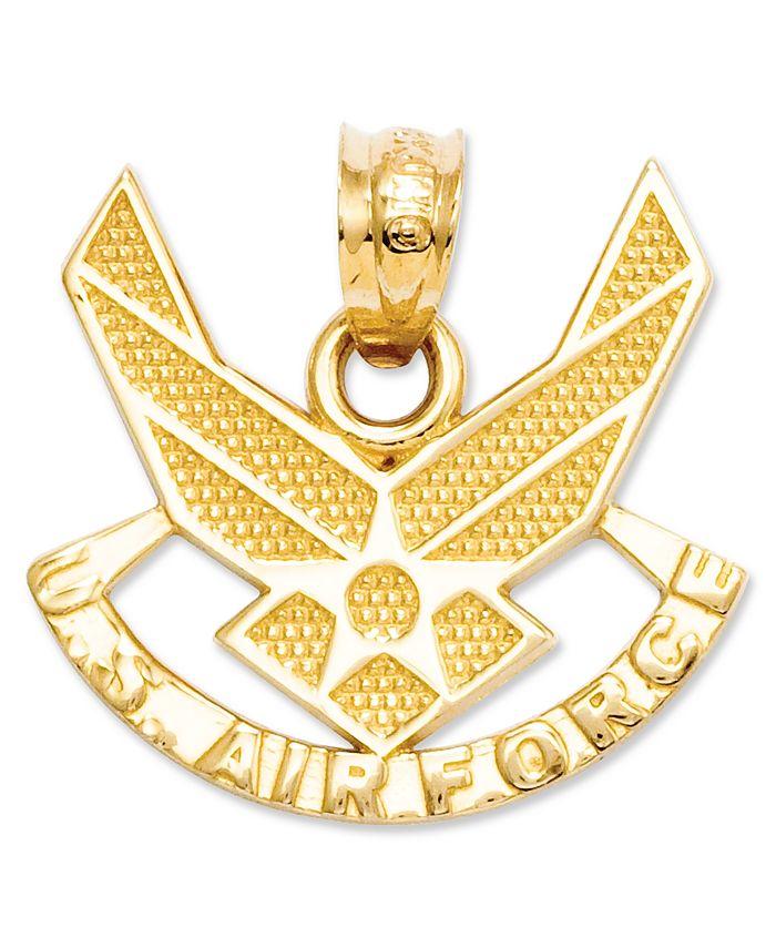 Macy's - 14k Gold Charm, U.S. Air Force Charm