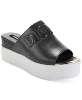 DKNY Covo Platform Slide Sandals
