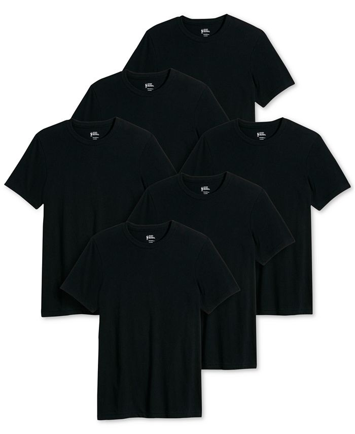 Jockey - Men's 6-Pk. Classic Cotton T-Shirts