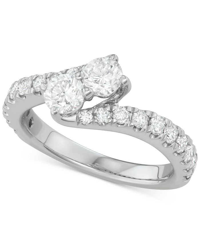 Two Souls, One Love® - Diamond Bypass Engagement Ring (1-1/2 ct. t.w.) in 14k White Gold