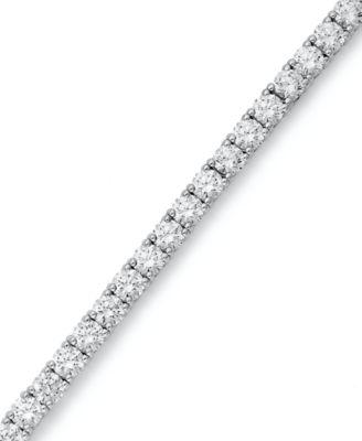 Diamond Tennis Bracelet in Sterling Silver 1 2 ct t w