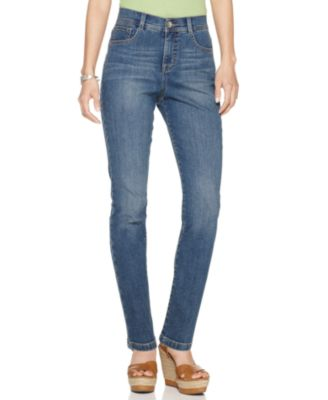 Image of Style & Co. Petite Tummy-Control Slim-Leg Jeans, Only At Macy's
