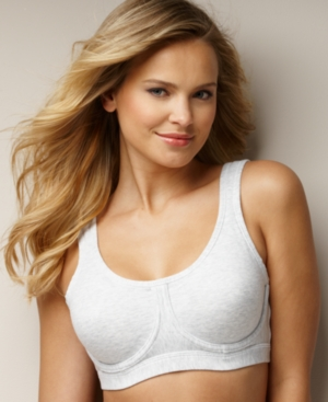Lily of France In Action Cotton Underwire Sports Bra 2101755 plus size,  plus size fashion plus size appare