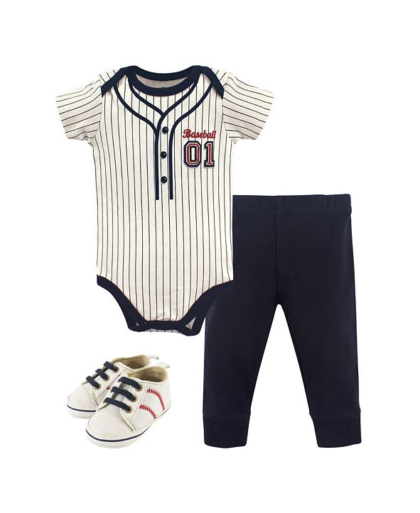 Little Treasure Bodysuits, Pants and Shoes, 3-Piece Set