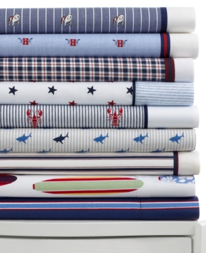 Tommy Hilfiger Bedding, Novelty Print Twin XL Sheet Set Bedding