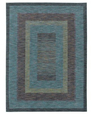 Shaw Living Area Rug, American Abstracts Collection 21400 Monza Blue 5u0027 x 7u0027