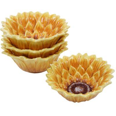 Sunset Sunflower 4-Pc. 3-D Ice Cream Bowl