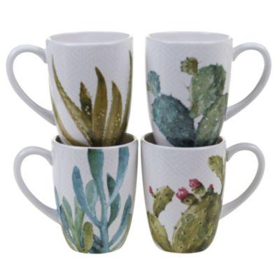 Cactus Verde 4-Pc. Mug