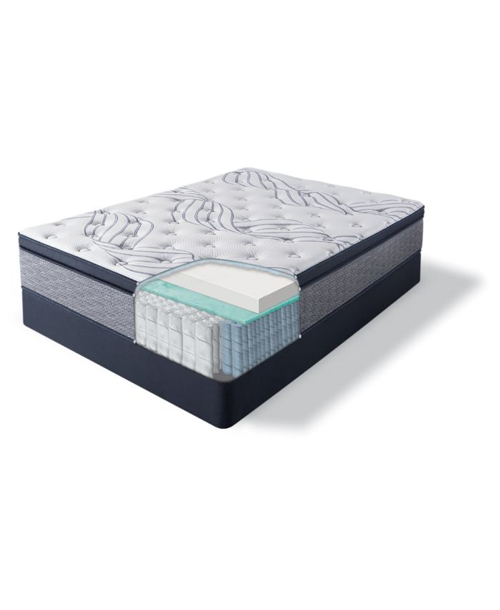 "Serta Perfect Sleeper Kleinmon II 13.75"" Plush Pillow Top Mattress - King & Reviews - Mattresses - Macy's"