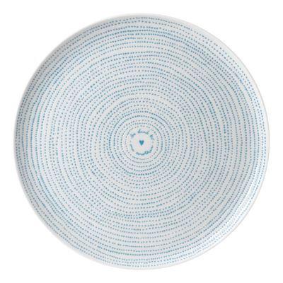 Crafted by Royal Doulton Polar Blue Dots Serving Platter