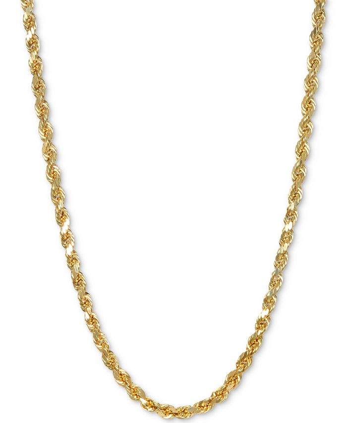 """Italian Gold - Rope 24"""" Chain Necklace in 14k Gold"""