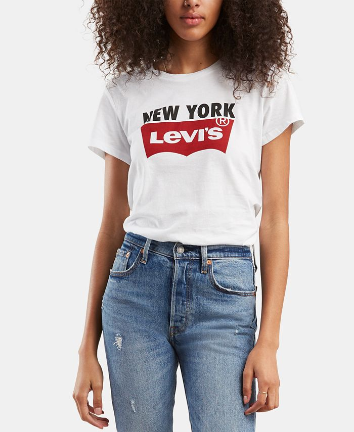 Levi's - New York Logo Cotton T-Shirt