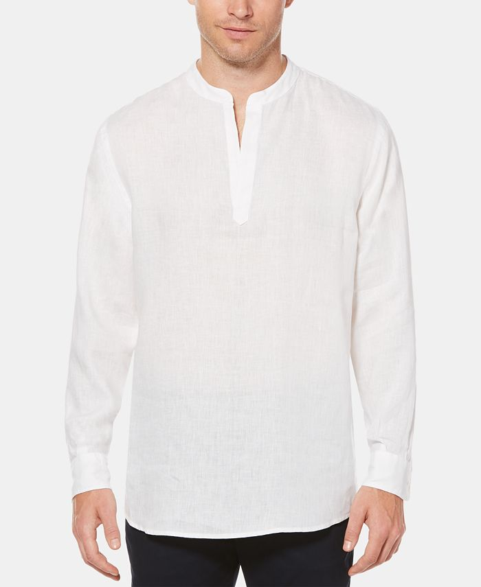 Perry Ellis - Men's Chambray Popover Shirt