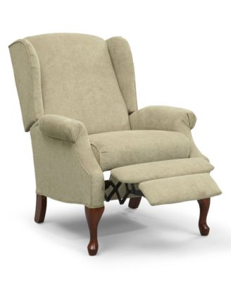 Hillsboro recliner chair queen anne style wing furniture macy s