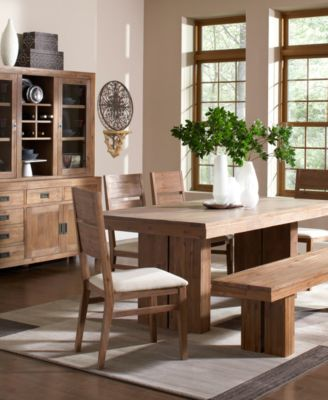 Champagne 7 Piece Dining Room Furniture Set - Furniture - Macy\'s