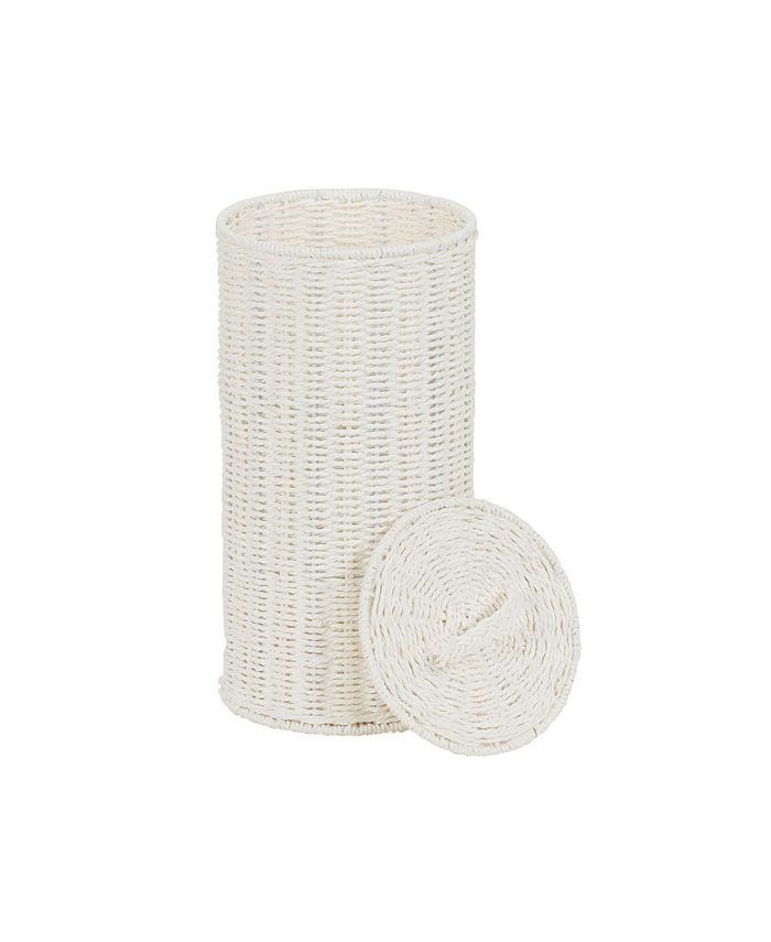 Household Essentials - Paper Rope Wicker Toilet Paper Roll Holder
