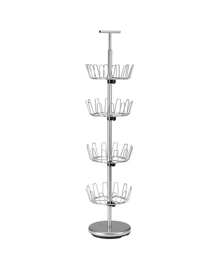 Household Essentials - 4-Tier Revolving Shoe Tree