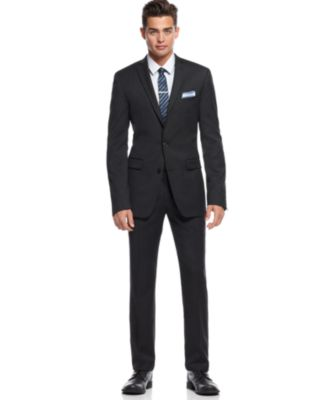 Bar III Charcoal Solid Extra Slim-Fit Jacket - Suits & Suit