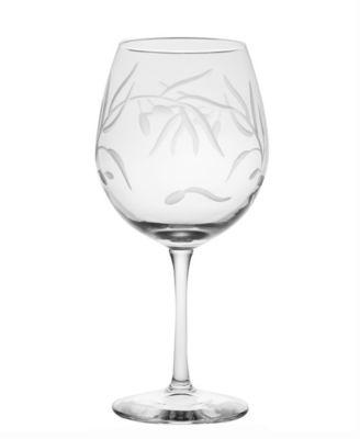 Olive Balloon Wine 18Oz - Set Of 4 Glasses
