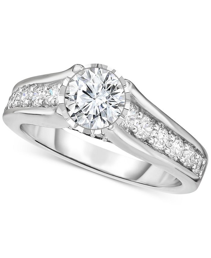 TruMiracle - Diamond Engagement Ring (1-1/4 ct. t.w.) in 14k White Gold