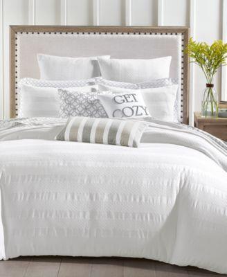 Basket Stripe 3-Pc. Twin Comforter Set, Created for Macy's