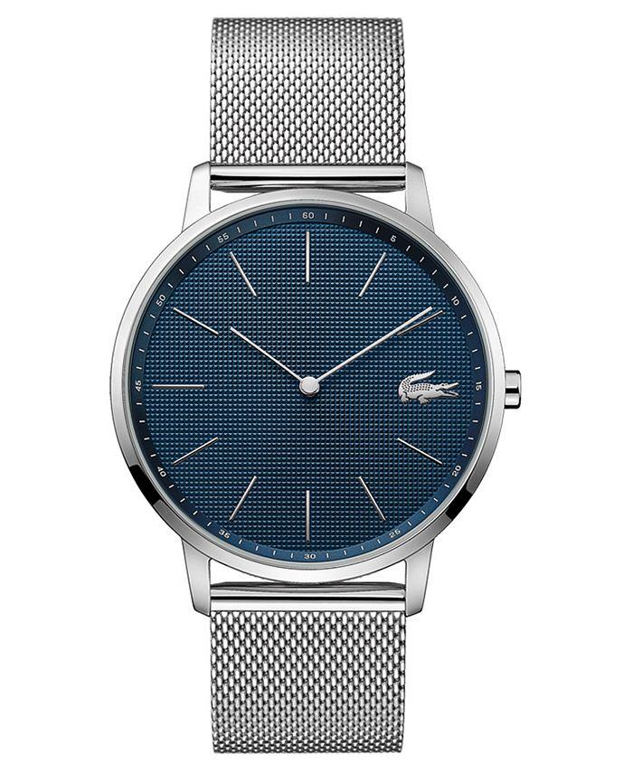 Lacoste - Men's Moon Ultra Slim Stainless Steel Mesh Bracelet Watch 40mm