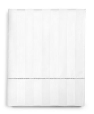 """1.5"""" Stripe 100% Supima Cotton 550 Thread Count Flat Sheet, Twin, Created for Macy's"""
