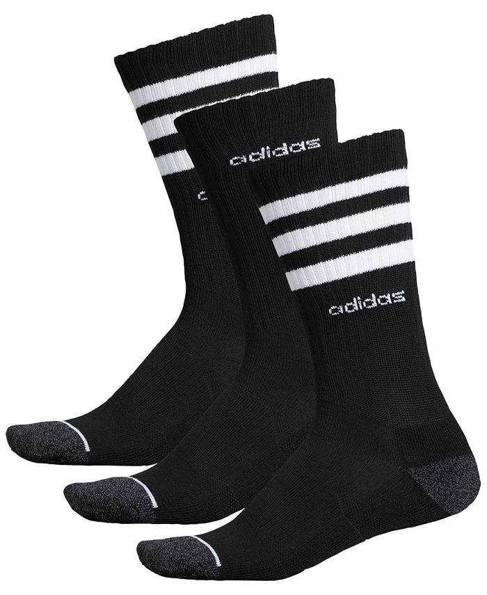 adidas - Men's 3-Pk. Crew Socks