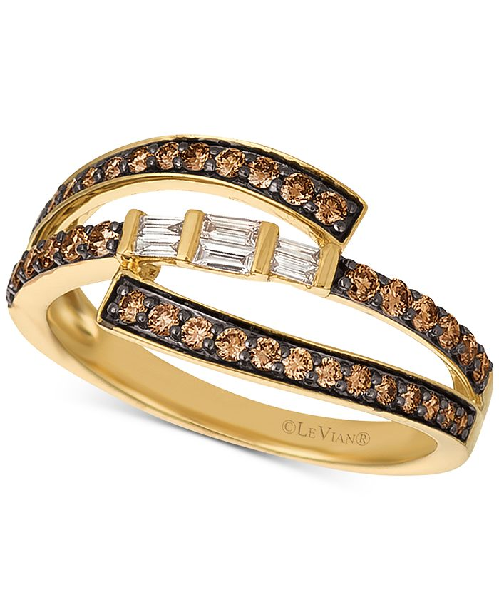 Le Vian - Chocolate Diamond (1/2 ct. t.w.) & Vanilla Diamond (1/10 ct. t.w.) Ring in 14k Gold