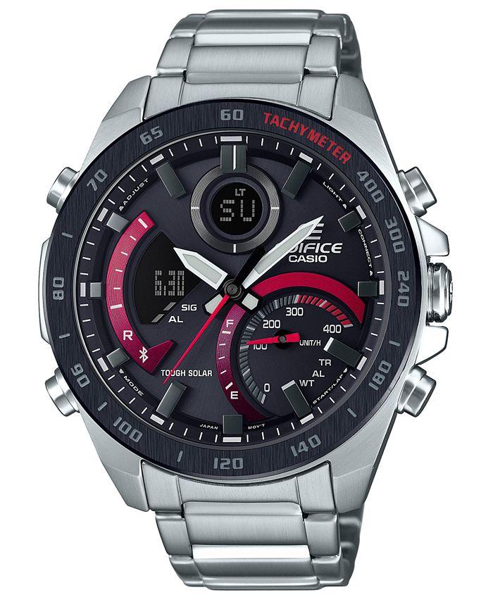 G-Shock - Men's Analog-Digital  Silver-Tone Resin Bracelet Watch 48mm