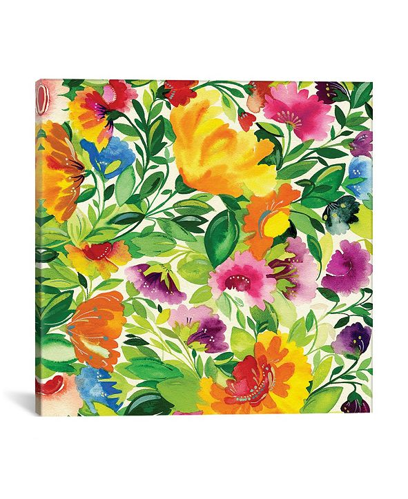 """iCanvas """"July Bouquet Ii"""" By Kim Parker Gallery-Wrapped Canvas Print - 26"""" x 26"""" x 0.75"""""""