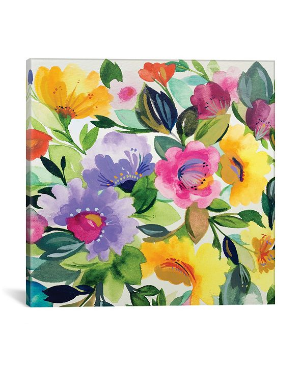 """iCanvas """"Lavender Zinnias Ii"""" By Kim Parker Gallery-Wrapped Canvas Print - 26"""" x 26"""" x 0.75"""""""