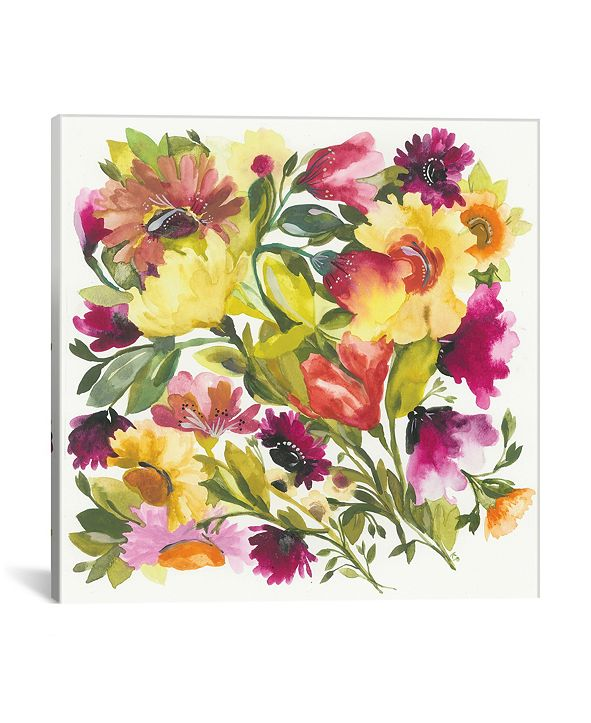 "iCanvas ""Love Garden"" By Kim Parker Gallery-Wrapped Canvas Print - 12"" x 12"" x 0.75"""