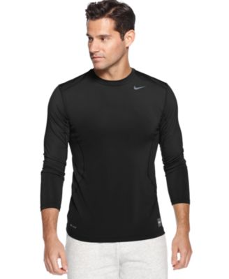 Nike T-Shirt, Pro Combat Dri-Fit Fitted Long Sleeve Tee - T-Shirts ...