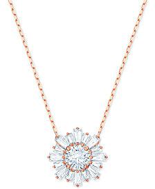 "Swarovski Crystal Sunshine Pendant Necklace, 14-7/8"" + 2"" extender"