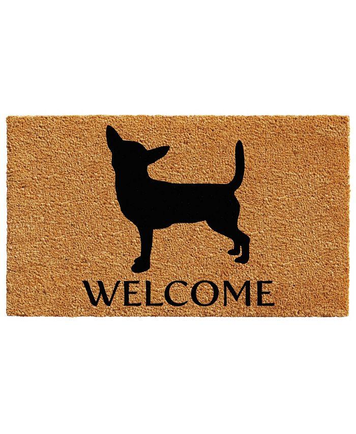 "Home & More - Chihuahua 17"" x 29"" Coir/Vinyl Doormat"
