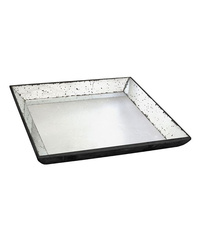 AB Home Waverly Mirrored Square Tray, Medium