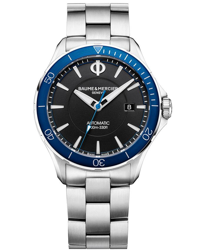 Baume & Mercier - Men's Swiss Automatic Clifton Club Stainless Steel Bracelet Watch 42mm, a Macy's Exclusive Style