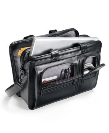 Samsonite Professional Leather 2 Pocket Laptop Briefcase ...