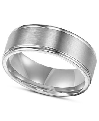 Men S Sterling Silver Ring 8mm Engraved Wedding Band