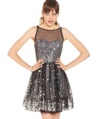 Ruby rox sequin colorblock dress