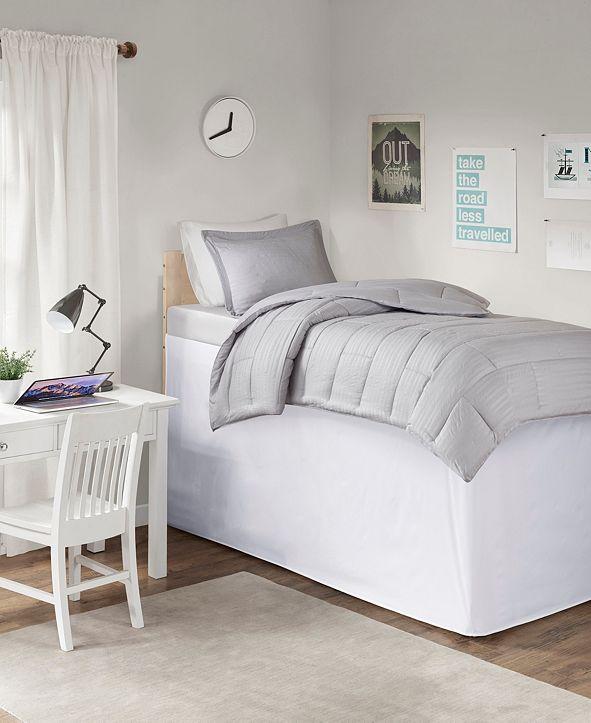 """JLA Home Intelligent Design Extended Twin XL Drop 36"""" Dorm Bedskirt"""