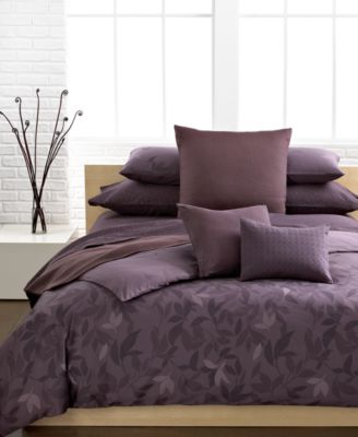 Calvin Klein Elm Pc Bedding Collection Bedding Collections - Brown pattern bedding double duvet set calvin klein bamboo bedding