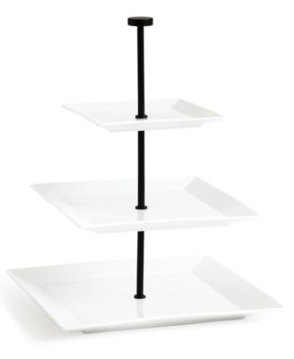 CLOSEOUT! The Cellar Whiteware 3 Tiered Square Server